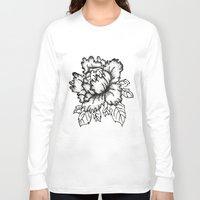 peony Long Sleeve T-shirts featuring Peony by Emma Heller