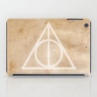 deathly hallows iPad Cases featuring Deathly Hallows on Parchment by Hannah Ison