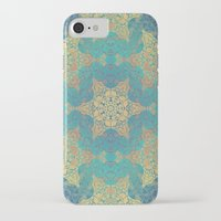 henna iPhone & iPod Cases featuring Blue Henna by Truly Juel