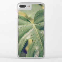 Philomena Philodendron Clear iPhone Case