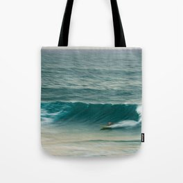 Surfer in Burleigh Heads Tote Bag