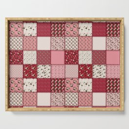 Rosey Vintage Patchwork Serving Tray