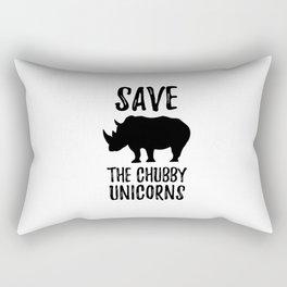 Save The Unicorns Rectangular Pillow