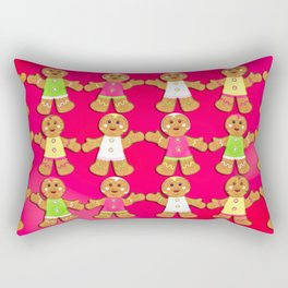 Gingerbread Men and Gingerbread Woman Cookies Rectangular Pillow