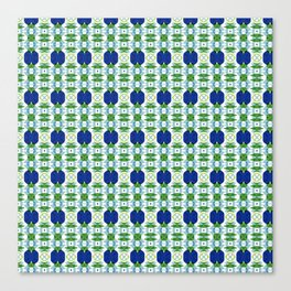 Blue Sapphires - this design goes well with Blue and Green Calm Canvas Print