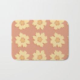 Yellow and Orange Tickseed Flower Pattern Bath Mat
