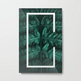 Framed Leafe Metal Print