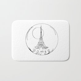 paris in a glass ball without a shadow Bath Mat