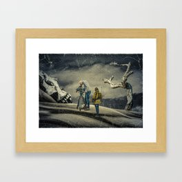 Death Research - Contemporary Art Collage Framed Art Print