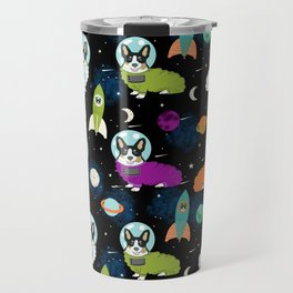 Corgi welsh corgi outer space astronaut rockets cute dog costume pet friendly dog art Travel Mug