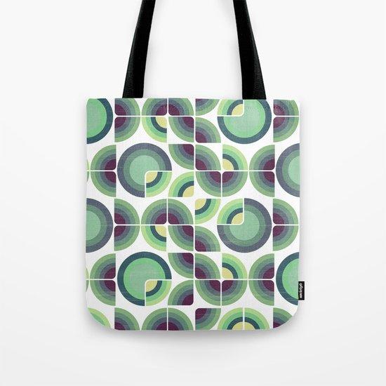 Green Fields Pattern Tote Bag