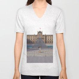 Louvre Illustration Unisex V-Neck