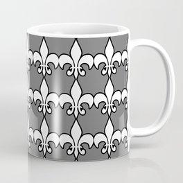 Fleur de lis white on grey Coffee Mug