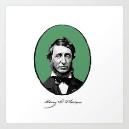 Authors - Henry David Thoreau Art Print
