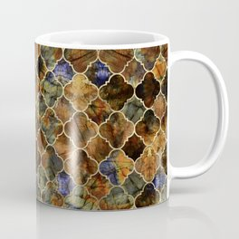 Quatrefoil Moroccan Pattern Brown Labradorite Coffee Mug
