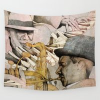 drums Wall Tapestries featuring JAZZ by Andreas Derebucha