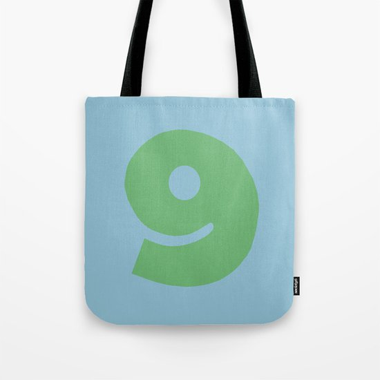 Number 9 Tote Bag