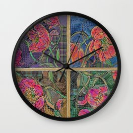 Peonies: the mystery unfolds... Wall Clock