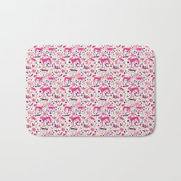 Park dogs in Pink Bath Mat