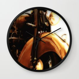 Motorcycle-Sepia-Poster Wall Clock
