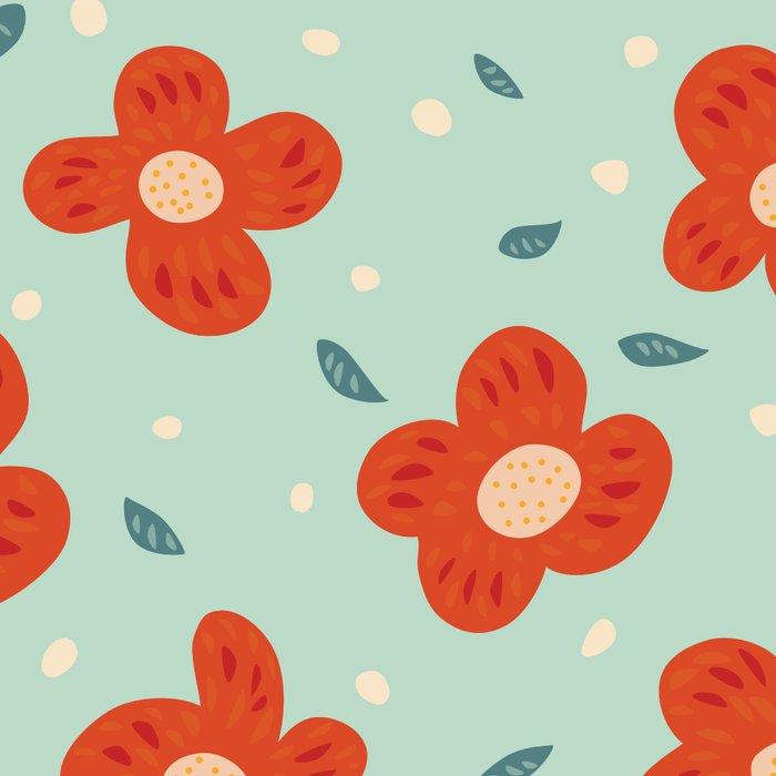 Simple Pretty Orange Flowers Pattern Leggings By Borianagiormova