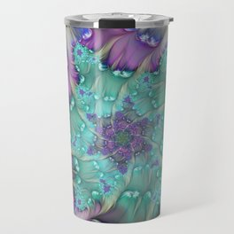 Find Yourself, Abstract Fractal Art Travel Mug