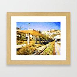Catanzaro: railway station Framed Art Print