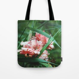 Lace roses Tote Bag