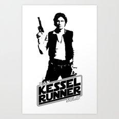 Han Solo-Kessel Runner Art Print