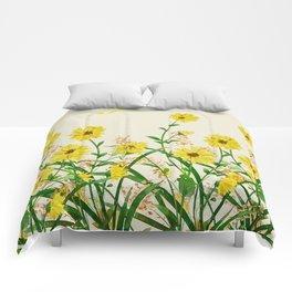 Yellow Wildflowers Comforters