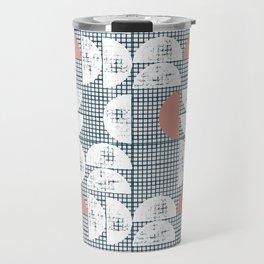 Mid-Century Check Pattern Travel Mug