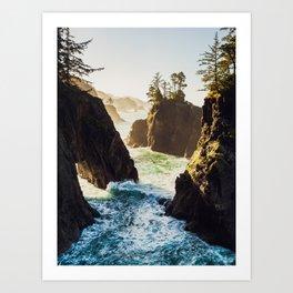 Sunrise at Natural Bridges - Samuel H. Boardman State Scenic Corridor, Oregon Art Print