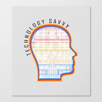 technology Canvas Prints featuring Technology Savvy by Adil Siddiqui