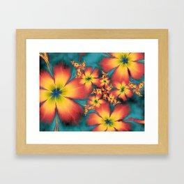 Chintz Flowers Framed Art Print