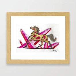 Ruby Horse Framed Art Print