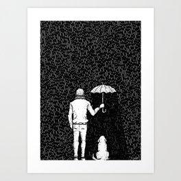 Man & Golden - Black - Visothkakvei Art Print