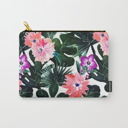 Lush Tropical Floral Carry-All Pouch