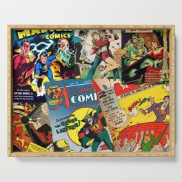 Comics Collage Serving Tray