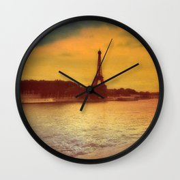 Paris from a Distance  Wall Clock