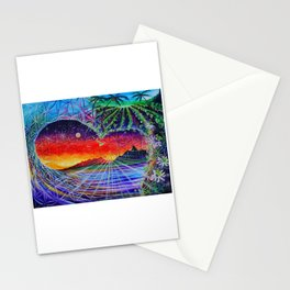 Farm Waves ~ Lilikoi Wave ~ painted live w/ Mike Love & Full Circle @ Surferbar North Shore Oahu Stationery Cards