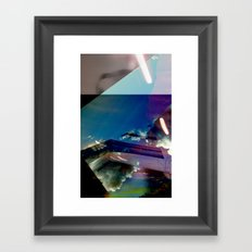 Rainbow Clouds Framed Art Print