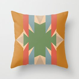 Orange Star - Style Me Stripes Throw Pillow