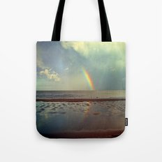 Rainbow Over Sea Tote Bag