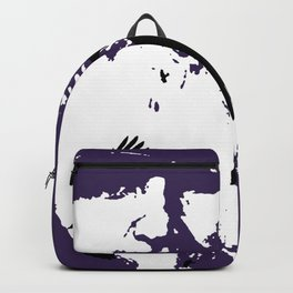 Odin Portrait and Silhouette of Ravens Vector Art Backpack