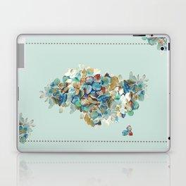 SEAFOAM Hortensia Laptop & iPad Skin