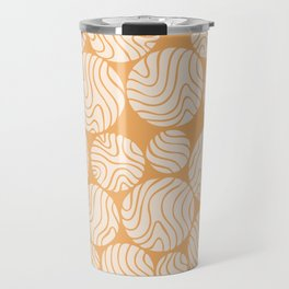 Cotton Ball Flower Pattern Jolly Orange Color Design Travel Mug