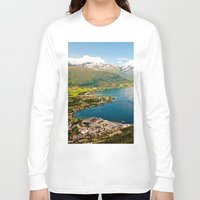 norway Long Sleeve T-shirts featuring Sandane, Norway by MankiniPhotography