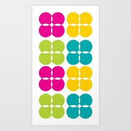 Colorful Bejeweled Circles Art Print
