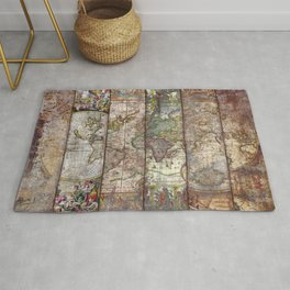 Old Times (World Map) Rug