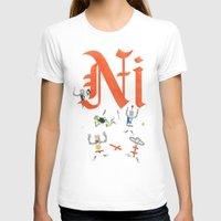 T-shirts featuring Ni! by Wharton